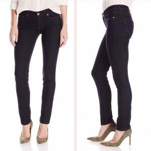 Paige Skyline Skinny Low Rise Dark Wash Jeans